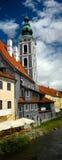 Tsjechische architectuur Krumlov Royalty-vrije Stock Afbeeldingen