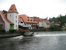 Tsjechische Architectuur Krumlov Stock Afbeeldingen