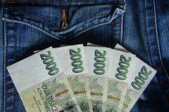 Tsjechische bankbiljetten Stock Foto's