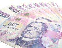 Tsjechische bankbiljetten Royalty-vrije Stock Afbeeldingen