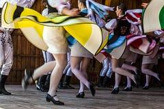 Tsjechische dansers 1 Royalty-vrije Stock Afbeeldingen