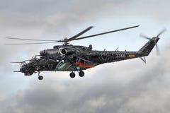 Tsjechische de aanvalshelikopter van Mil mi-24 Stock Afbeelding