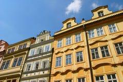 Tsjechische huizen Stock Foto's