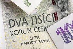 Tsjechische korunas Royalty-vrije Stock Foto's
