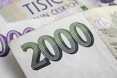 Tsjechische korunas Royalty-vrije Stock Afbeelding