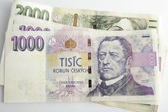 Tsjechische korunas Stock Afbeelding