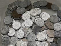 Tsjechische korunasmuntstukken Stock Foto's