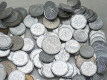 Tsjechische korunasmuntstukken Stock Foto