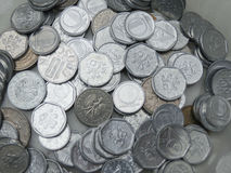 Tsjechische korunasmuntstukken Stock Fotografie