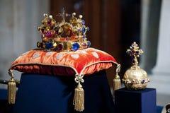 Tsjechische kroonjuwelen Stock Foto's