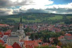 Tsjechische Krumlov Royalty-vrije Stock Afbeeldingen