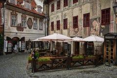 Tsjechische Krumlov Stock Foto's