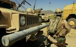 Tsjechische militair in Afghanistan stock foto's