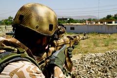 Tsjechische militair op wacht in Afghanistan Royalty-vrije Stock Afbeelding