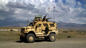 Tsjechische Militaire Voertuigen in Afghanistan Stock Foto