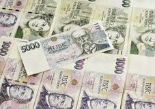 Tsjechische Nationale valuta Royalty-vrije Stock Afbeeldingen