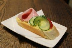 Tsjechische open sandwich Stock Foto's