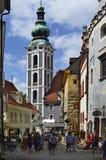 Tsjechische Republiek, Cesky Krumlov royalty-vrije stock afbeelding