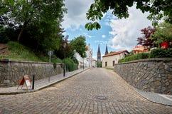 Tsjechische Republiek De straten van Vysehrad in Praag 18 Juni 2016 Stock Fotografie