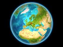 Tsjechische republiek op aarde Royalty-vrije Stock Afbeelding