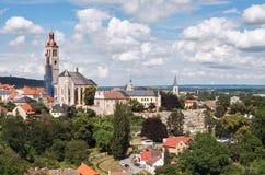 Tsjechische Republiek Panorama van Kutna Hora 14 Juni 2016 Stock Afbeelding