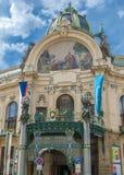 Tsjechische Republiek, Praag Gemeentelijk Huis Royalty-vrije Stock Afbeeldingen
