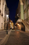 Tsjechische Republiek, Praag, nachtstraat Stock Afbeelding