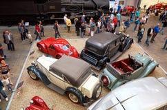 Tsjechische Republiek praag Nationaal Technisch Museum Auto'swijnoogst 11 juni, 2016 Stock Fotografie