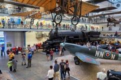 Tsjechische Republiek praag Nationaal Technisch Museum Uitstekende stoomtrein 11 juni, 2016 Stock Foto