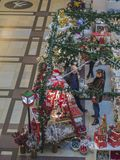 Tsjechische republiek, Praag, Palladium winkelend centrum, 23 November, Royalty-vrije Stock Foto