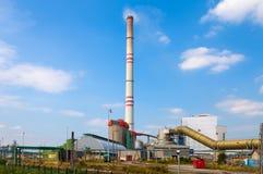 TSJECHISCHE REPUBLIEK, PRUNEROV, 24 JULI, 2015: Steenkoolelektrische centrale Prunerov Royalty-vrije Stock Foto's