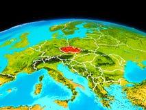 Tsjechische republiek in rood Royalty-vrije Stock Foto's