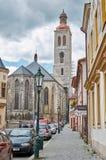 Tsjechische Republiek Straat Kutna Hora 14 Juni 2016 Royalty-vrije Stock Afbeelding