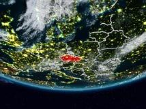 Tsjechische republiek tijdens nacht Royalty-vrije Illustratie