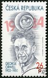 TSJECHISCHE REPUBLIEK - 2013: toont Eric Arthur Blair George Orwell 1903-1950 royalty-vrije stock foto