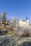 Tsjechische republiek, Zruc nad Sazavou, kasteel Stock Foto's