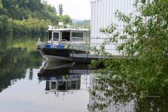 Tsjechische Rivierpolitie Stock Foto's