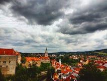 Tsjechische stad Royalty-vrije Stock Afbeeldingen