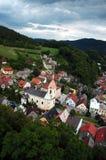 Tsjechische stad Stramberk Stock Fotografie