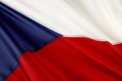 Tsjechische vlag Stock Afbeeldingen