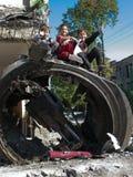 Tskhinvali, SüdOsetia - nach Krieg Lizenzfreie Stockbilder