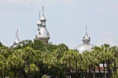 Åtskilliga minaret Arkivbild