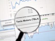 TSLA - Tesla zapas Obrazy Royalty Free