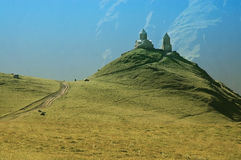 tsminda sameba скита kazbegi caucasus Стоковая Фотография