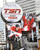 TSN Billboard with Gretzkty and Crosby Royalty Free Stock Photos