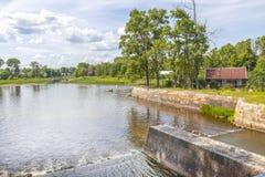 Tsna-Fluss Verdammung auf dem Fluss stockbilder