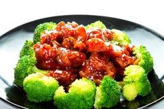 中国食物一般tso的鸡(张的Chicken)将军 免版税库存照片