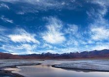 Tso Kar λίμνη σε Ladakh, βόρεια Ινδία Στοκ Εικόνα