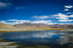 Tso Kar lake royaltyfria foton