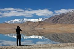 Tso Kar lake in Ladakh, North India Stock Images